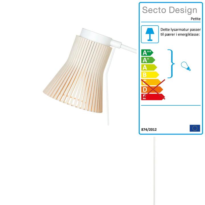 Petite 4630 væglampe af Secto i bjørk