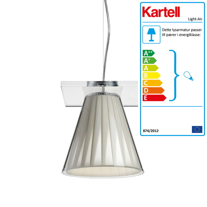 Light-Air pendellampe, klar / beige af Kartell