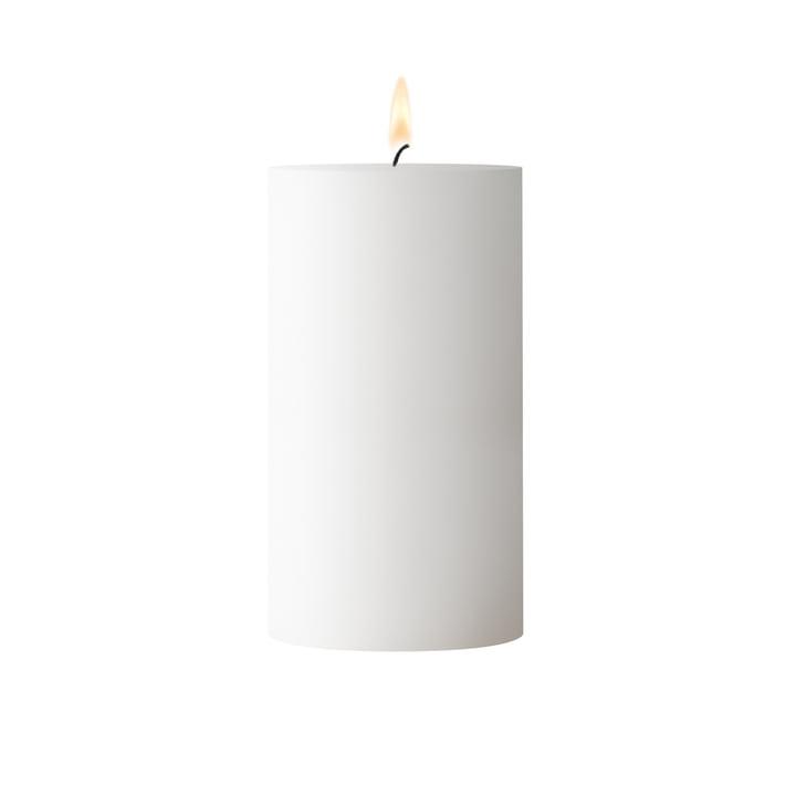Hvidt bloklys, D 6. 5 cm x H 12 cm
