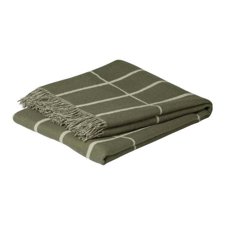 Tiiliskivi uldtæppe 130 x 180 cm, grå grøn / hvid af Marimekko