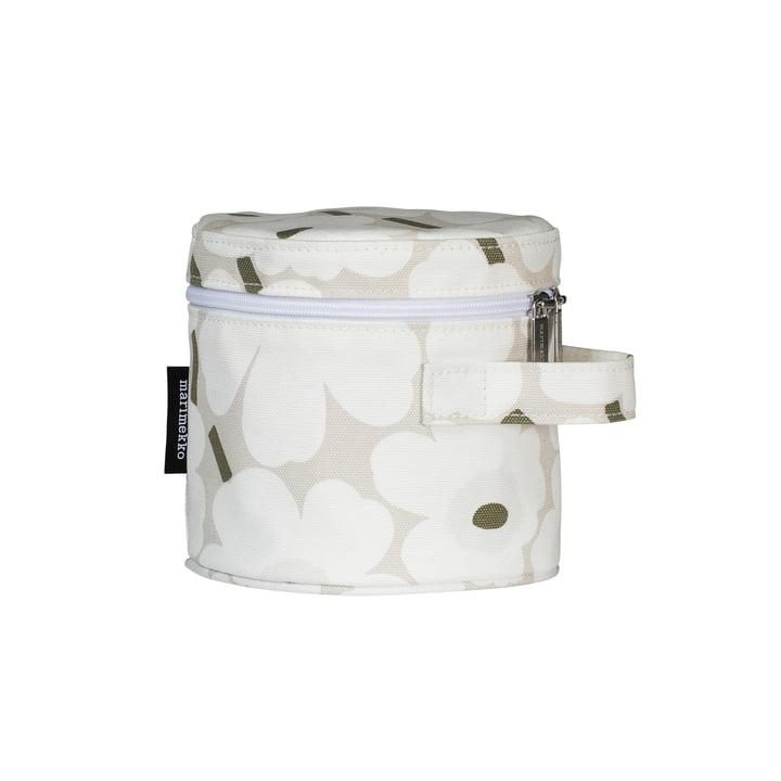 Liuske Mini Unikko kosmetisk taske, beige / hvid / grå grøn af Marimekko