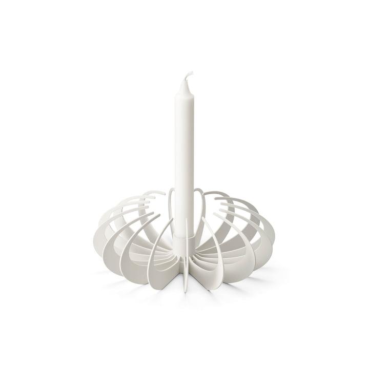 Skyggestearinlys fra Design House Stockholm i hvidt
