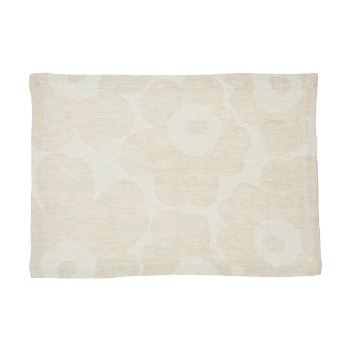 Pieni Unikko placemat vævet, beige / hvid af Marimekko