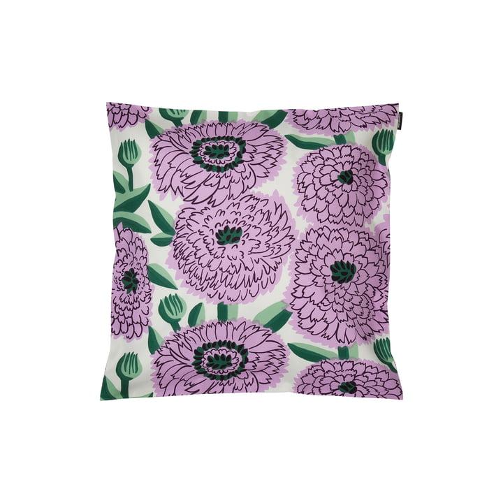 Pieni Primavera pudebetræk 45 x 45 cm, hvid / lilla / grøn af Marimekko