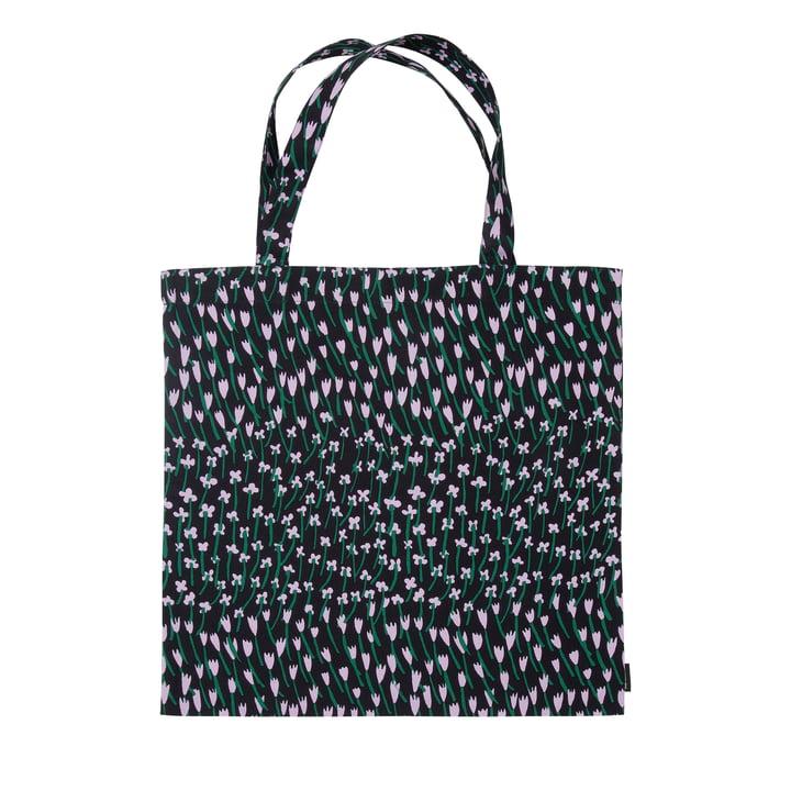 Apilainen indkøbstaske, mørkeblå / lilla / grøn af Marimekko