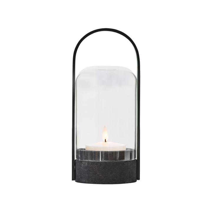 Levende lys bordlampe fra Le Klint i sort