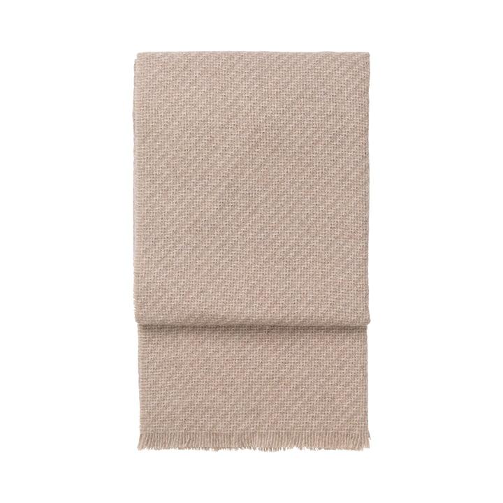 Diagonalt tæppe, beige / latte af Elvang