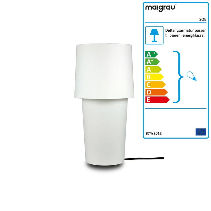 SOE 45 bordlampe, hvid af Maigrau
