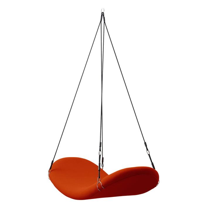 Flyvestol, rød-orange, (Hallingdal 65/600) af Verpan