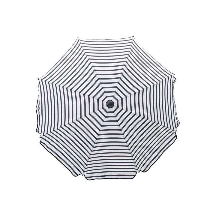 Octagon parasol Ø 180 cm, sort / hvid fra House Doctor