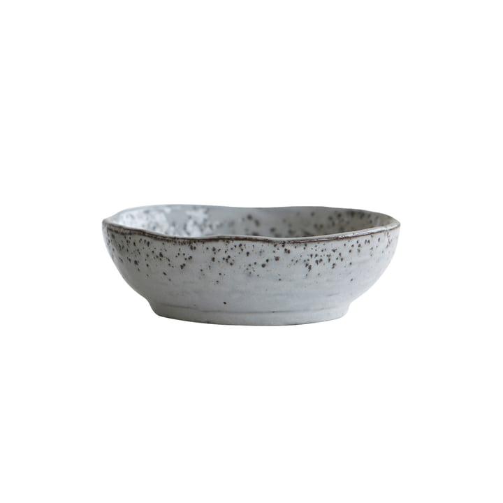 Rustik skål Ø 14 x H 4,5 cm af House Doctor i gråblå
