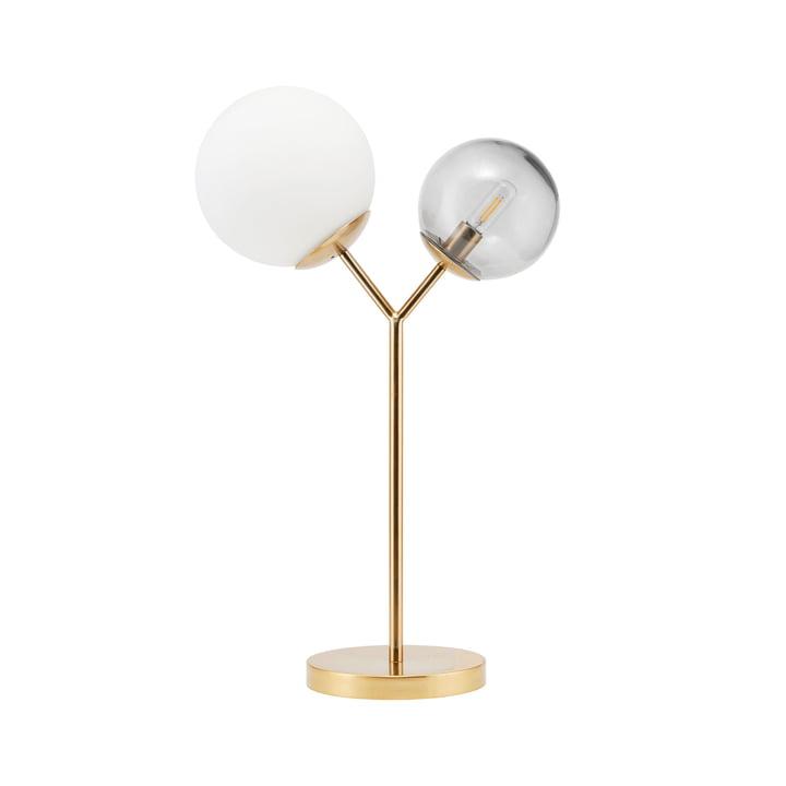 Dobbelt bordlampe H 42 cm af House Doctor i messing