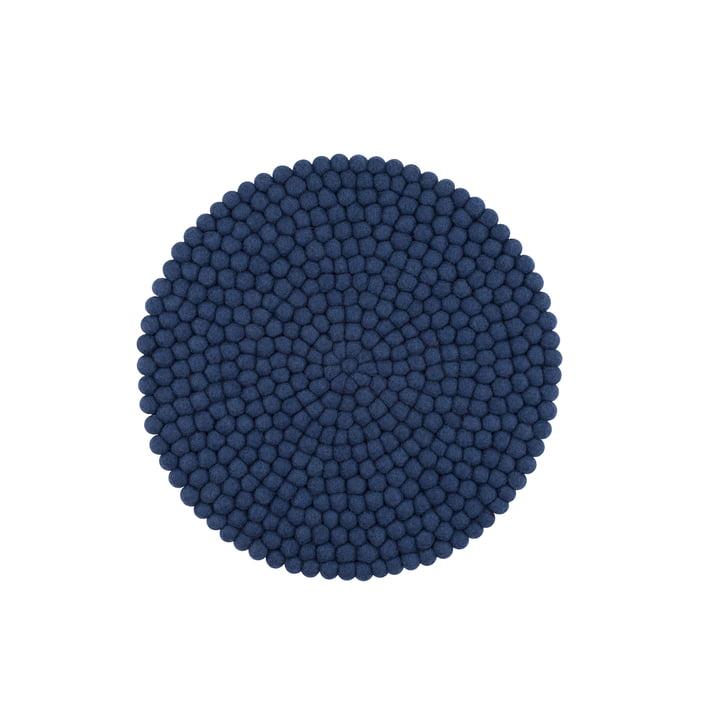 Alva siddepude Ø 36 cm af myfelt i mørkeblå