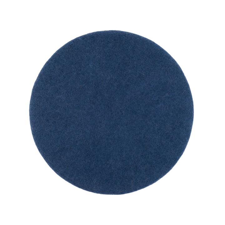 Alva sædedæksel flad Ø 36 cm af myfelt i mørkeblå