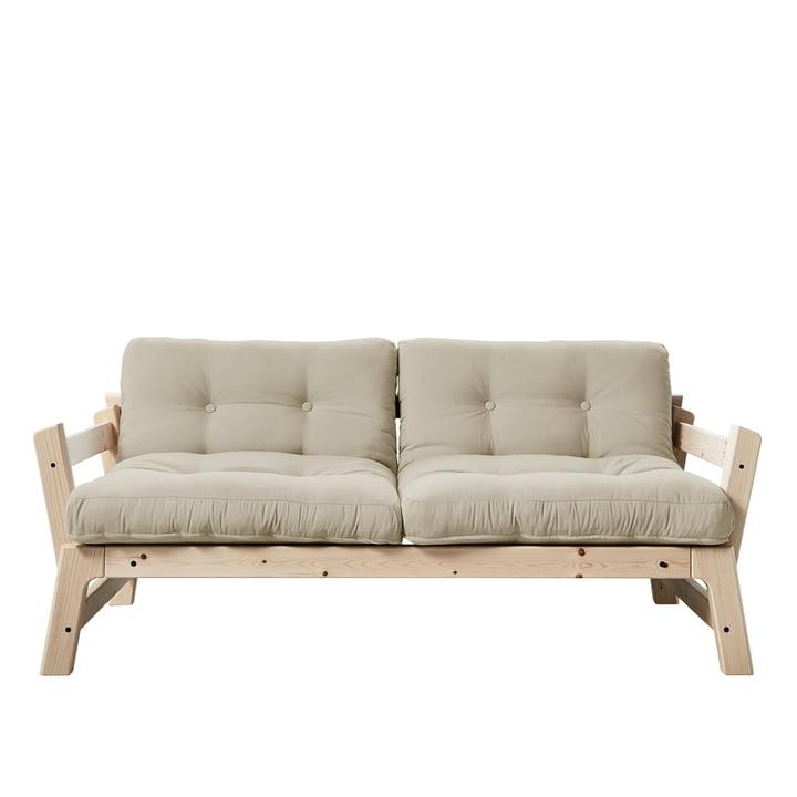 Step sofa af Karup Design i natur fyrretræ / beige