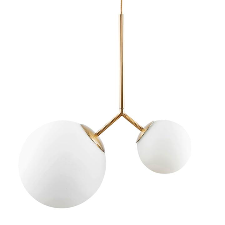 To pendel lampe fra House Doctor i messing / hvid
