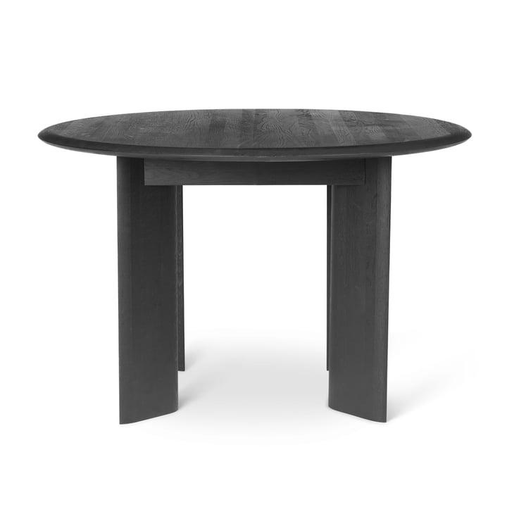 Skråbord, Ø 117 x H 73 cm, sort olieret eg fra ferm Living