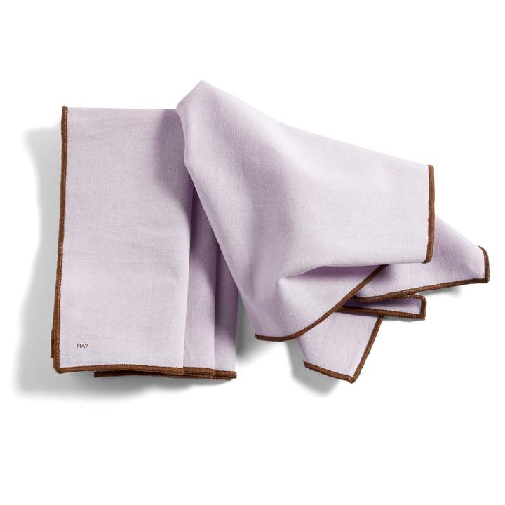 Contour serviet, 40 x 40 cm, lavendel (sæt med 4) af Hay