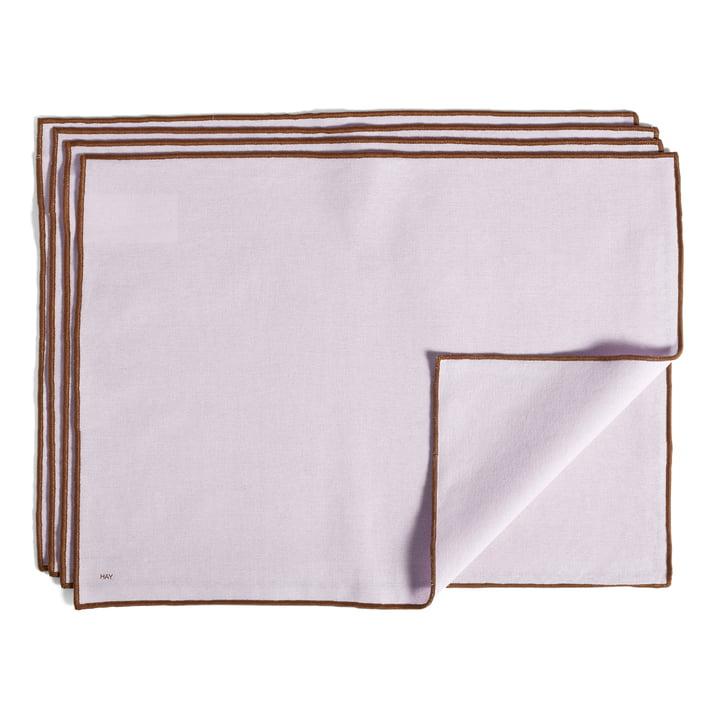 Kontur placemat, 46 x 34 cm, lavendel (sæt med 4) af Hay