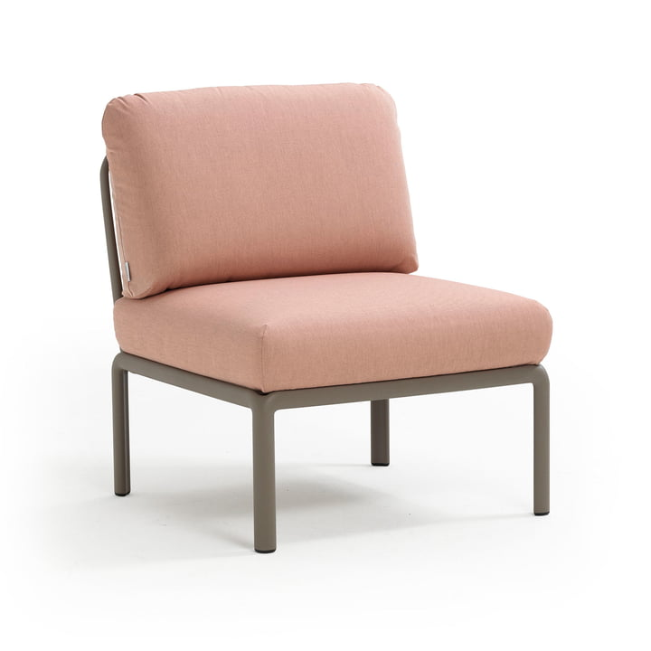 Komodo modulopbygget sofa i midten, tortora / pink quarzo af Nardi