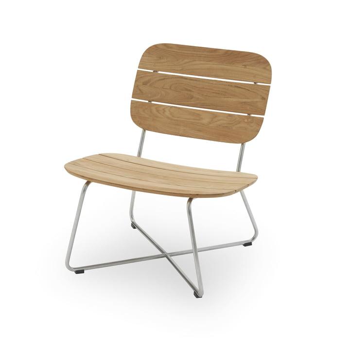 Lilium lænestol, teak / rustfrit stål fra Skagerak