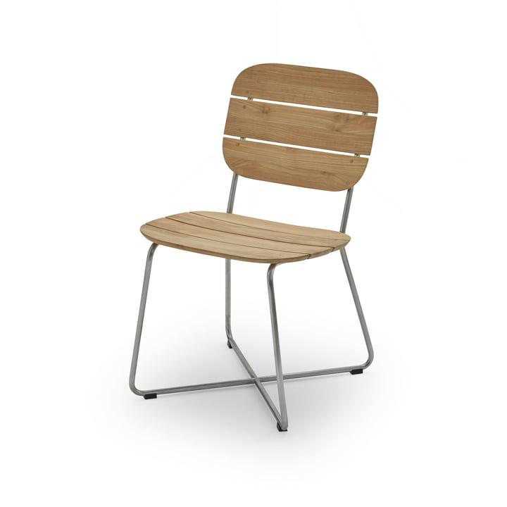 Lilium stol, teak / rustfrit stål fra Skagerak