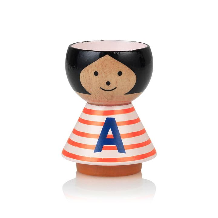 Bordfolk Egg Cup Girl A af Lucie Kaas