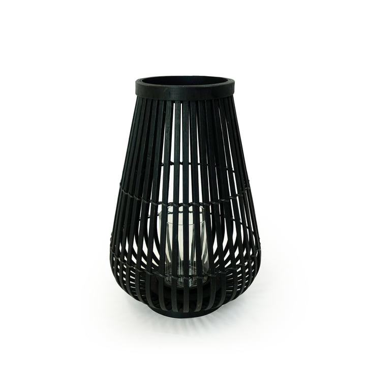 Bambuslygte i sort, 36 cm