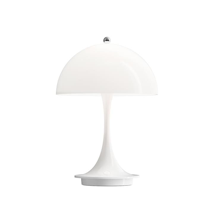 Panthella bærbart batteri LED bordlampe fra Louis Poulsen i hvid