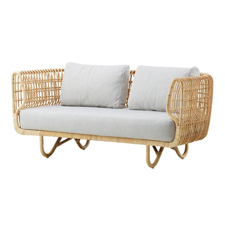 Nest 2-personers sofa indendørs, naturlig / natté lysegrå af Cane-line