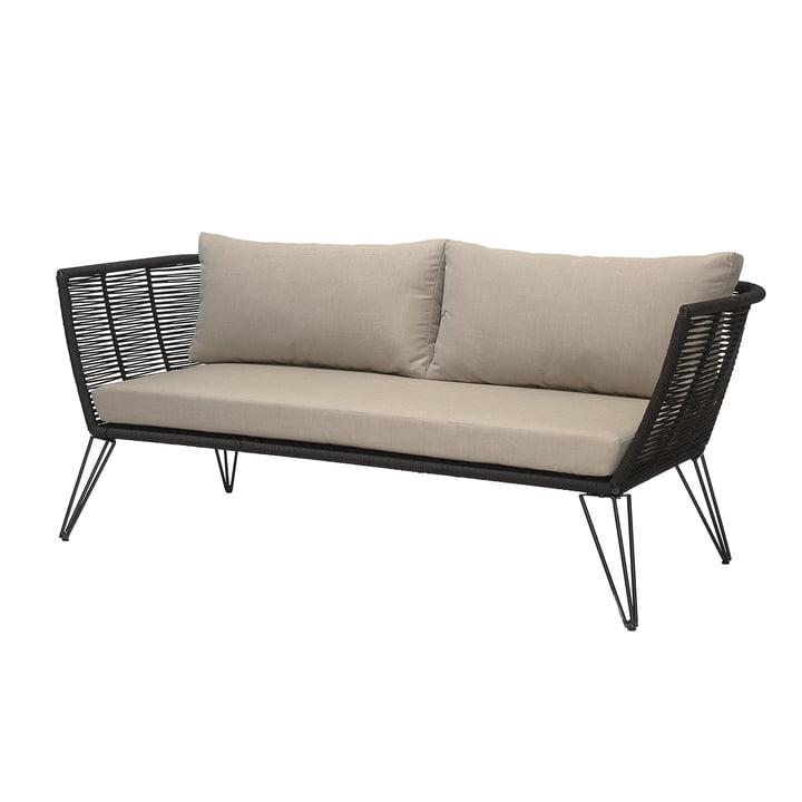 Mundo sofa med puder, sort / beige fra Bloomingville