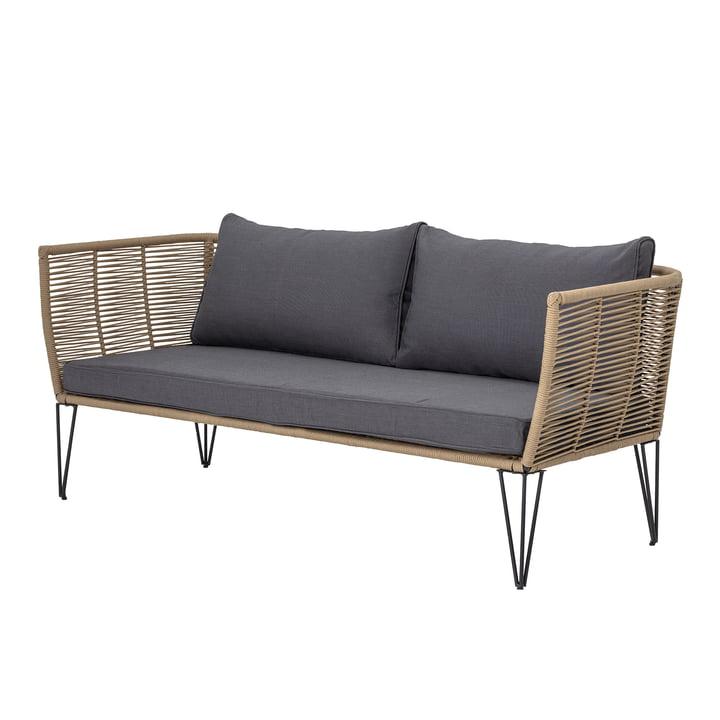 Mundo sofa med puder, brun / grå af Bloomingville