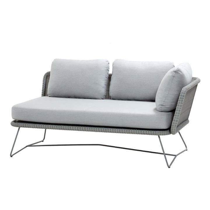 Horizon modulær sofa 2-pers. Venstre, lysegrå fra Cane-line