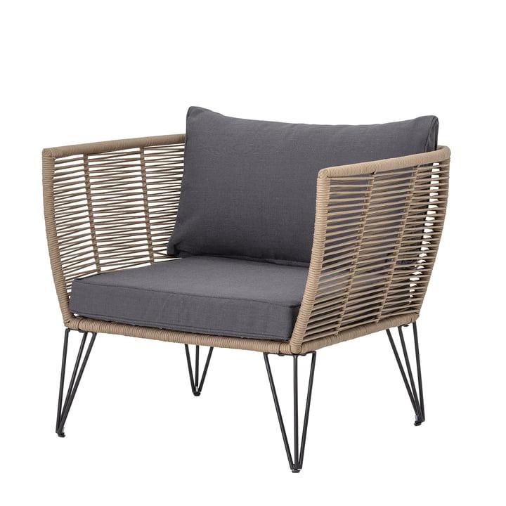 Mundo Lounge stol med pude fra Bloomingville i brun / grå