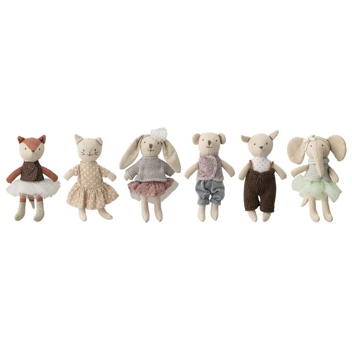 Mini koseligt legetøjssæt (sæt med 6) fra Bloomingville i flerfarve