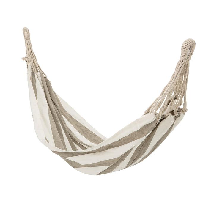 Hængekøje med striber fra Bloomingville i beige / hvid