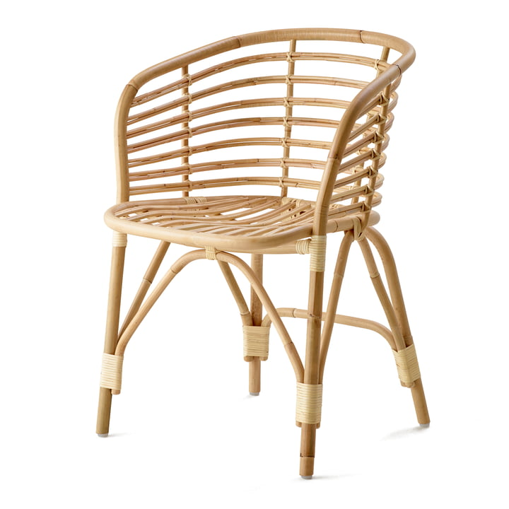 Blend lænestol indendørs, naturlig af Cane-line