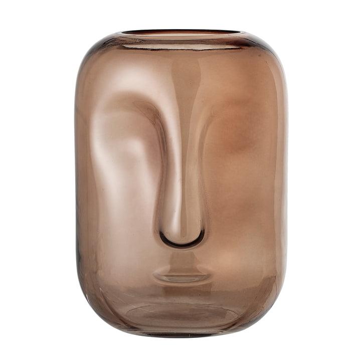Glasvase med ansigt fra Bloomingville i brun