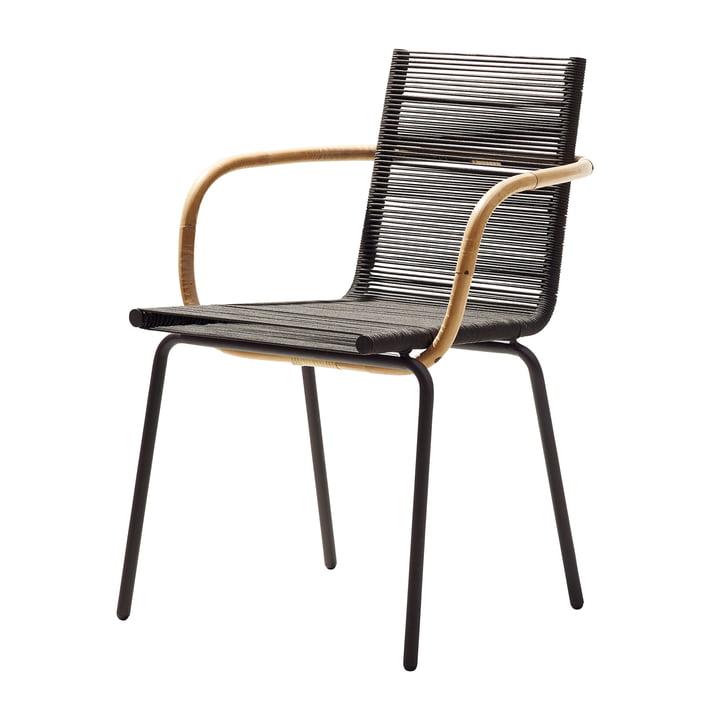 Sidd lænestol, brun fra Cane-line
