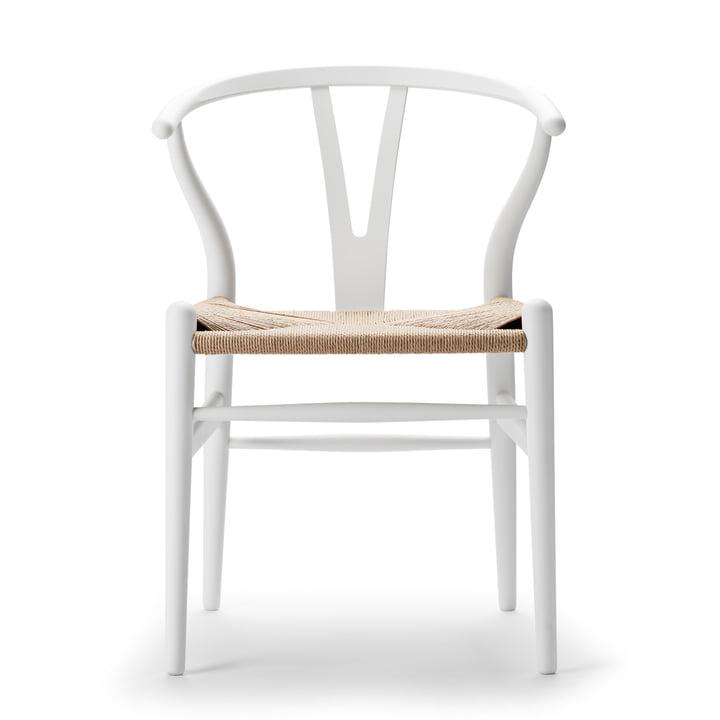CH24 Wishbone Chair af Carl Hansen i blød hvid / naturlig væv