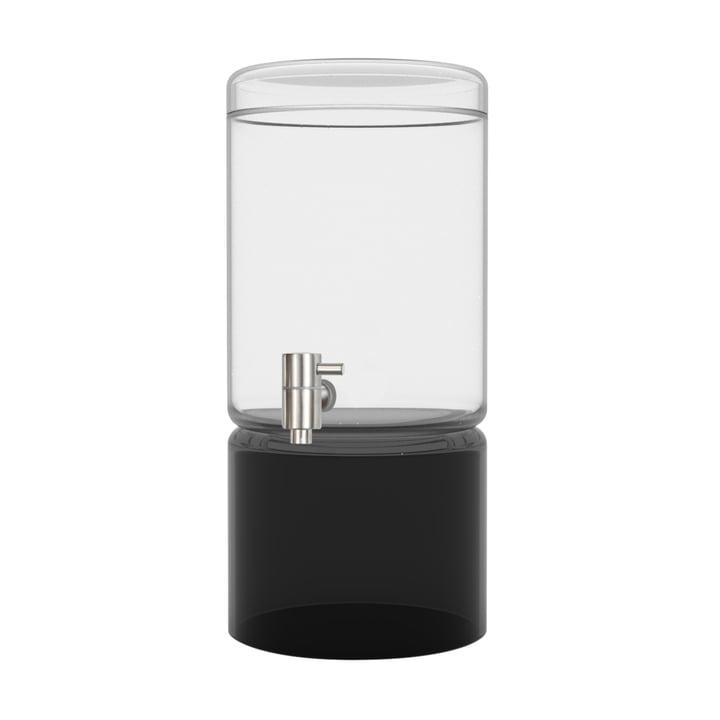 Glasdriksdispenser i sort 5 liter