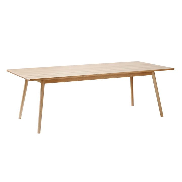 Isoleret produktbillede af C35C spisebord i 95 x 220 cm, hvidpigmenteret bøg af FDB Møbler