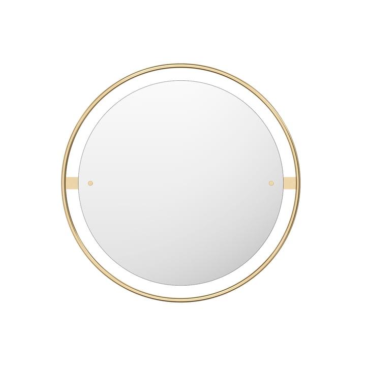 Nimbus spejl Ø 60 cm, messing poleret af Menu