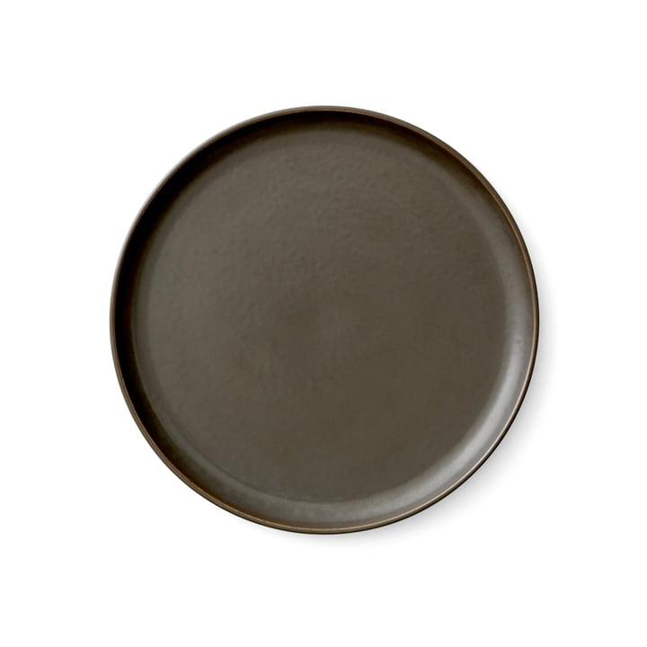 Menu - Ny normplade Ø 23 cm, mørk glaseret
