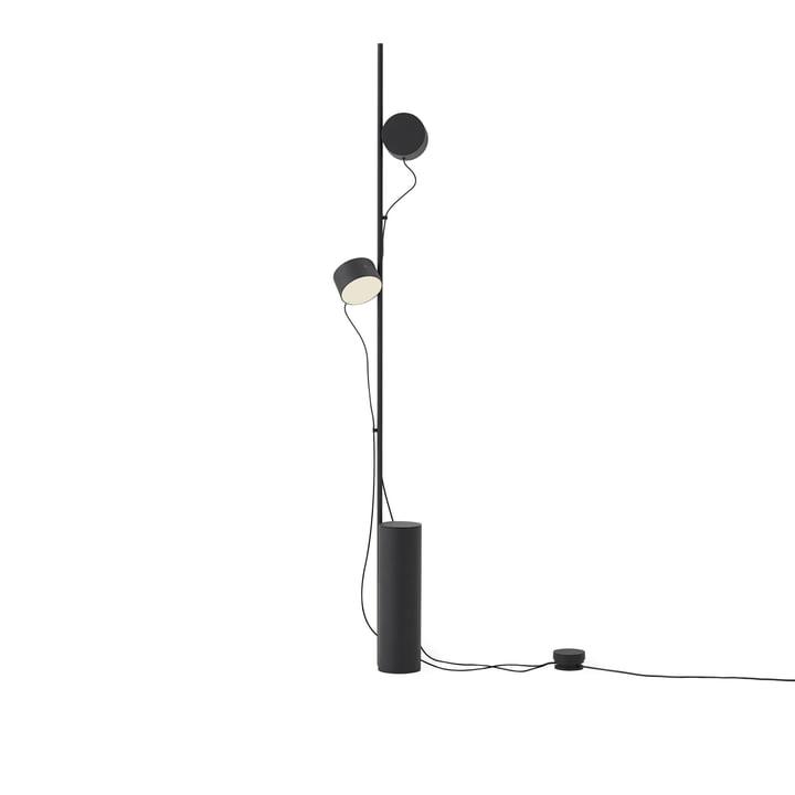 Post LED-gulvlampe fra Muuto i sort