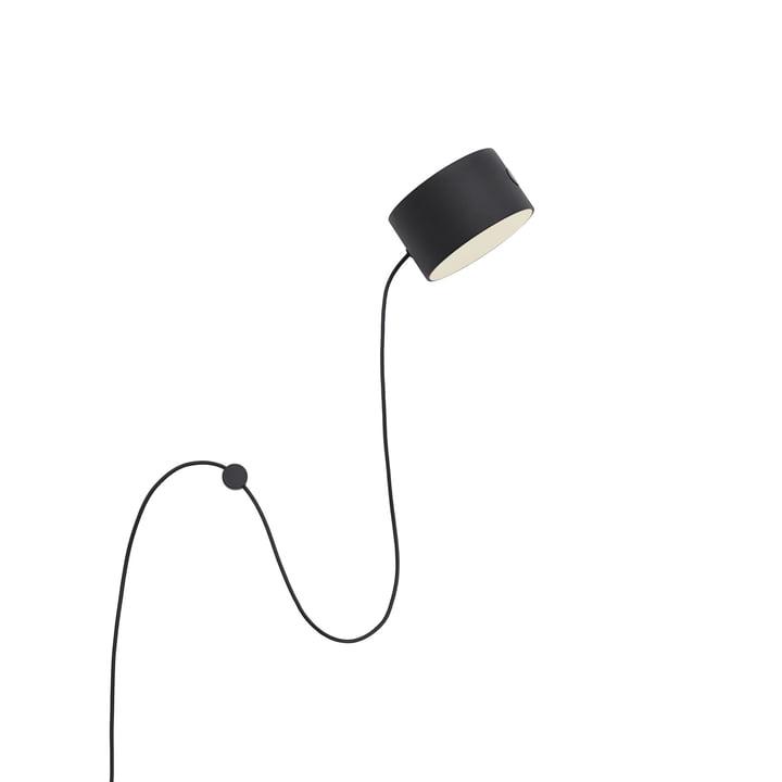 Post LED-væglampe fra Muuto i sort