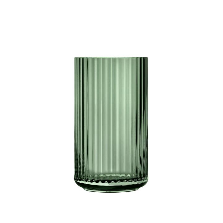 Glasvase H 15,5 cm af Lyngby Porcelæn i grønt
