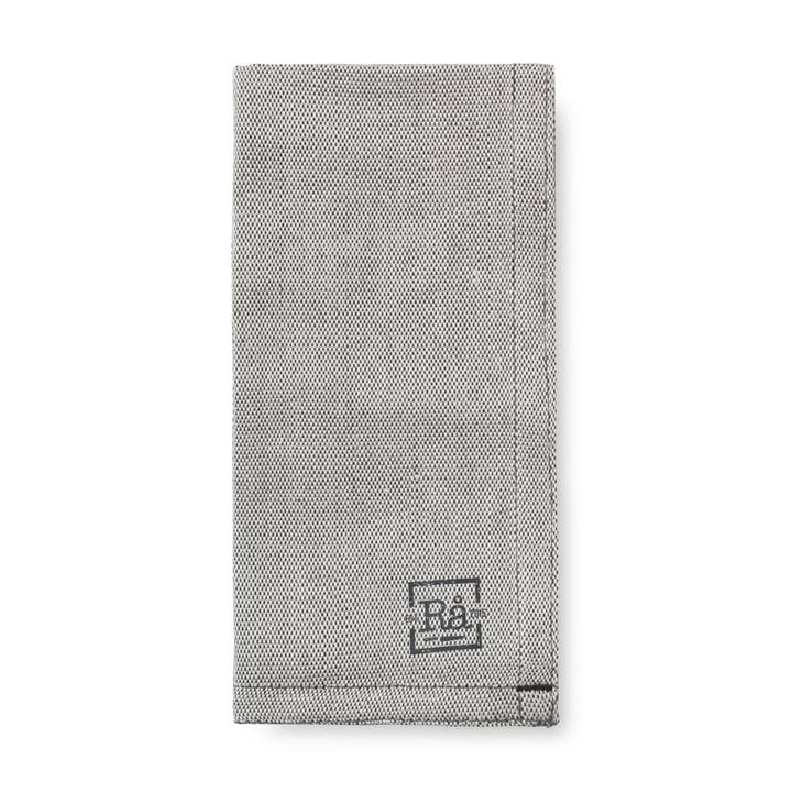 Rå stofservietter 45 x 45 cm af Juna i mørkegrå (sæt med 4)