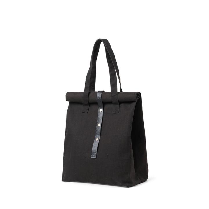 Rå picnic taske H 43 cm af Juna i sort