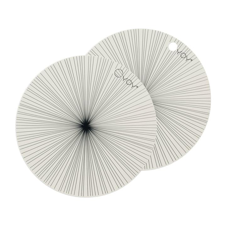 Placemats Ray Ø 36 cm, off-white (sæt med 2) af OYOY